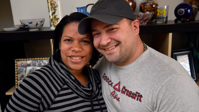 Crystal and Scott Newby, Wednesday Feb. 7, 2018. The Dyess Air Force Base couple recently moved back to the United States from Germany.