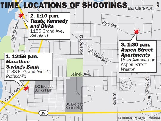 Shootings in three locations Wednesday afternoon shocked