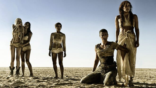 "Abbey Lee (from left), Courtney Eaton, Zoe Kravitz, Charlize Theron and Riley Keough in ""Mad Max: Fury Road."""