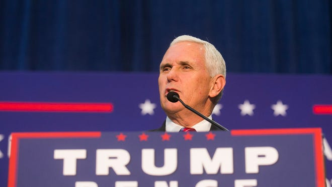 Vice Presidential candidate Mike Pence,  speaks during a campaign stop at Penn Waste in Manchester Township Thursday, Sept. 29, 2016. Amanda J. Cain photo