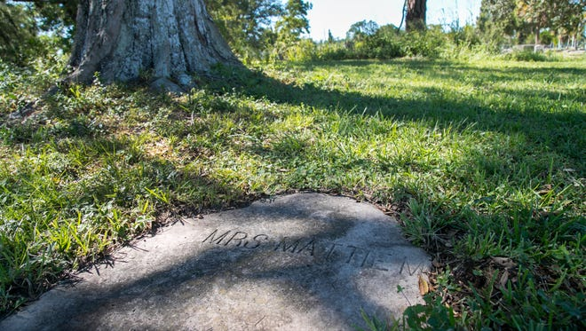 Southwest Florida Historical Society volunteers recently found and cleared off the grave of Mrs. Mattie M. with the help of Eddie Howell. Howell made it his mission to find out who she was.