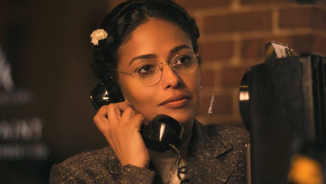 Meta Golding as Rosa Parks in 'Behind the Movement,' an original movie for TV One.