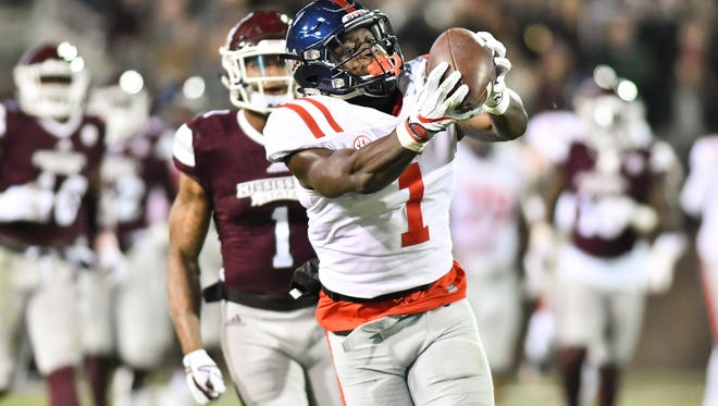 A.J. Brown is one of the best receivers in college football entering his junior year, expected to be his last before entering the NFL draft. Brown caught 75 passes for more than 1,200 yards and 11 touchdowns as a sophomore.