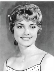 Sharon Tate poses as Miss Richland (California) in 1959.