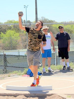 Raul Turrieta participated in the Senior Olympics at Fox Field in April of 2015. This year the track-and-field events will be held Saturday at Fox Field.