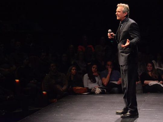 (NEWS) 01/24/17 Red Bank, NJ Robert F. Kennedy Jr. speaks during the Fearless Parent Focus for Health event at the Two Rivers Theater in Red Bank on Tuesday evening. Frank Galipo/Correspondent NJ4 Daily Images 0123 G