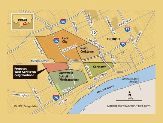 Proposed West Corktown neighborhood