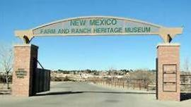 The entrance to the New mexico Farm and Ranch Heritage Museum