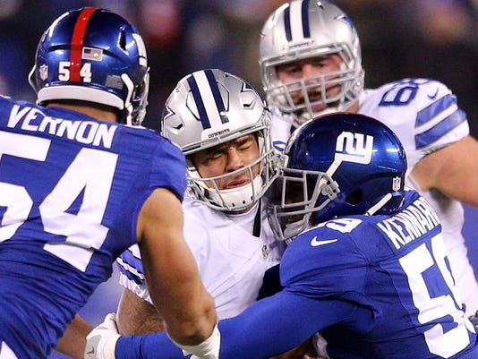 USP NFL: DALLAS COWBOYS AT NEW YORK GIANTS S FBN USA NJ