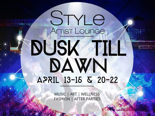 Poster of Dusk Till Dawn parties by Style Artist Lounge.