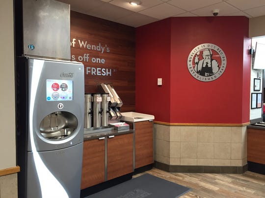 Wendy's on Ambassador Caffery Parkway in front of Wal-Mart has been undergoing a brand remodel.
