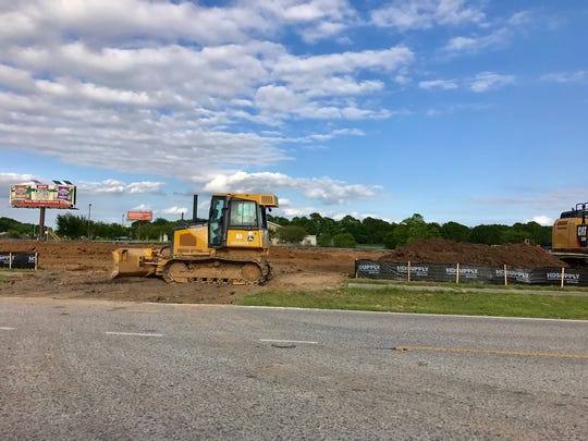 The construction off Interstate 10 between Ambassador Caffery Parkway and University Avenue is the future site of Moore Healthcare Group & Preservation Center
