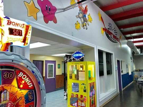 New walls with classic video game characters are part of the renovations at Kart Ranch.