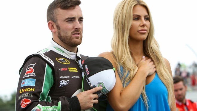 Austin Dillon says he shows respect for the flag - and America - 'because I have close friends who are still fighting.'