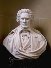 A bust of John C. Calhoun