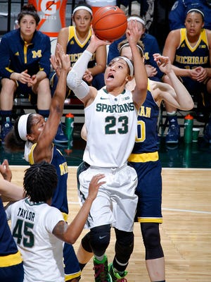 Michigan State junior Aerial Powers declared for the WNBA draft Monday afternoon.