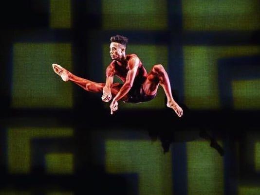 GFD dancer Vitolio Jeune in Garth Fagan's IN CONFLICT