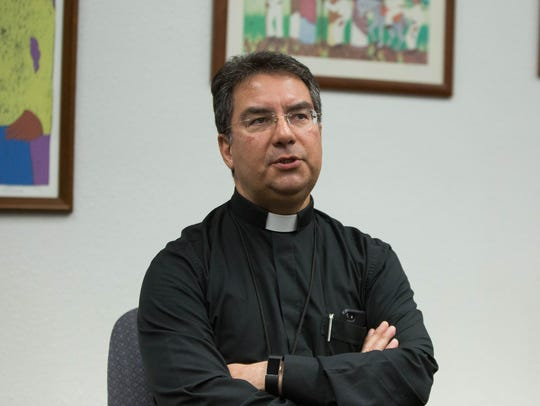 Bishop Oscar Cantú, addressing the on going investigation