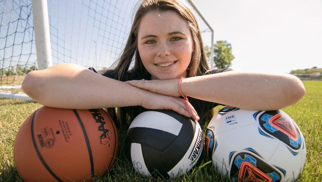 Fowlerville High School's Jackie Jarvis, shown Tuesday, July 3, 2018, has played basketball, soccer and volleyball for the Gladiators. Jarvis is the Livingston County Female Athlete of the Year.