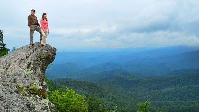 Blowing Rock is surrounded by beautiful green mountain vistas.