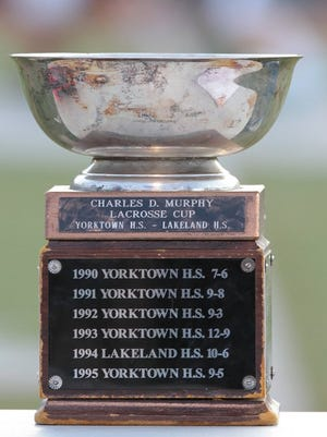 Yorktown and Lakeland/Panas are crosstown rivals who meet each spring in the region's biggest lacrosse game and play for the Murphy Cup.