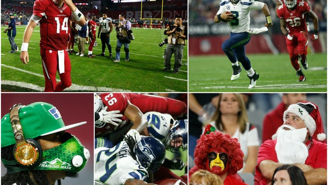 The Cardinals lost 35-6 to the Seahawks on Sunday, Dec. 21, 2014 in Glendale.