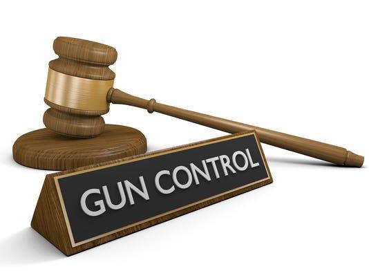 Court law concept of gun control legislation