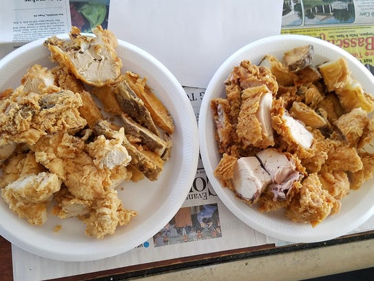 Chicken was judged on the taste and texture of crust,