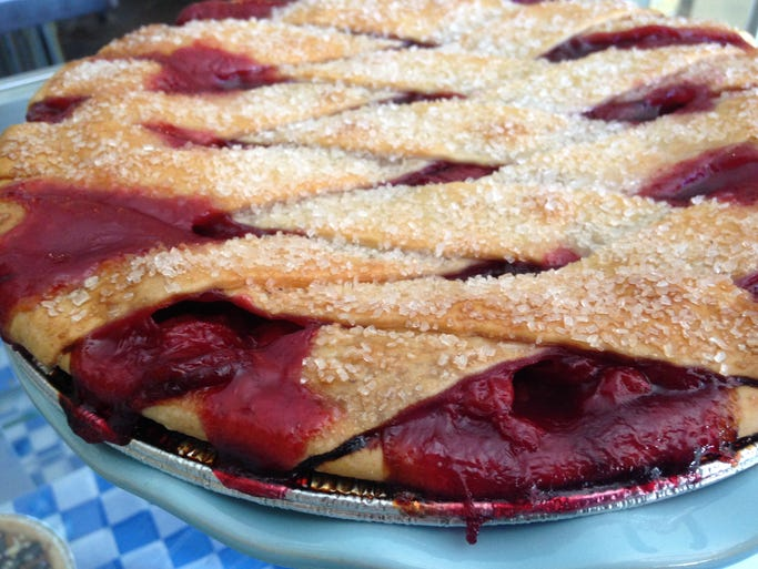 Cherry pie from Sweetie Pie Baking Co., which makes more than 20 kinds of pie.