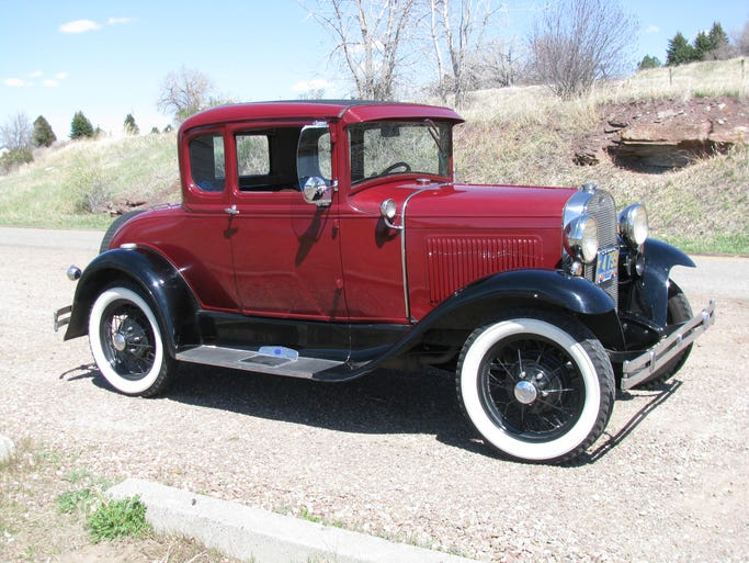 Al Smith of Great Falls owns this 1930 Model A Ford coupe.