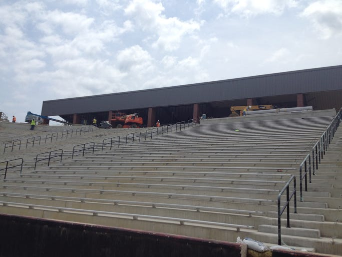 A look at the south end zone renovations at Cajun Field.