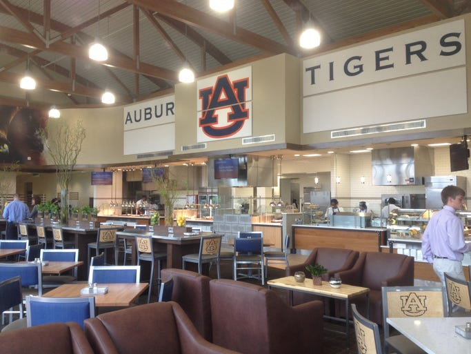 The Auburn Wellness Kitchen seats roughly 350 people.