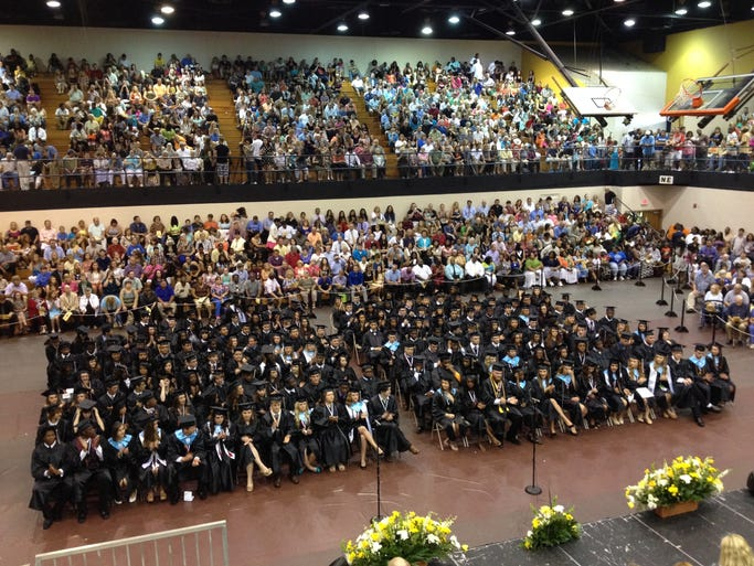 The Springfield High School Class of 2014 gathered at the city's Center on Thursday, May 22 for commencement exercises.