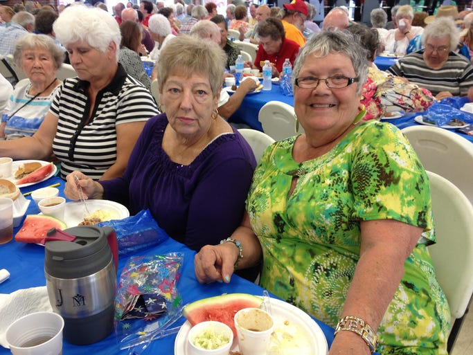 The Senior Center at Ashland City hosted its third annual summer picnic on Wednesday, June 11 at the Ashland City Elementary School cafeteria. The picnic was to be held at Riverbluff Park, but had to be moved to the school due to the weather.