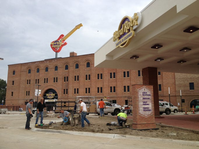 The Hard Rock Hotel & Casino in downtown Sioux City.