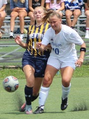 Marian senior midfielder Claudia Schilling (10) and