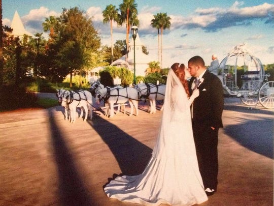 Alicia McInnis, of north Wilmington, had her dream wedding at Disney's Wedding Chapel.