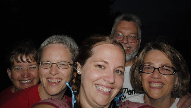 Sue, Lisa, Abbey, Jeff and Bev on Fourth of July in 2010.