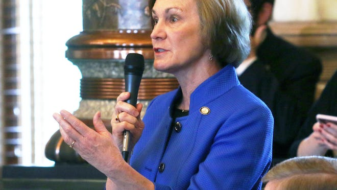 Sen. Barbara Bollier said after a campaign stop Wednesday for her U.S. Senate bid that she needed more information on whether or not to end the filibuster.