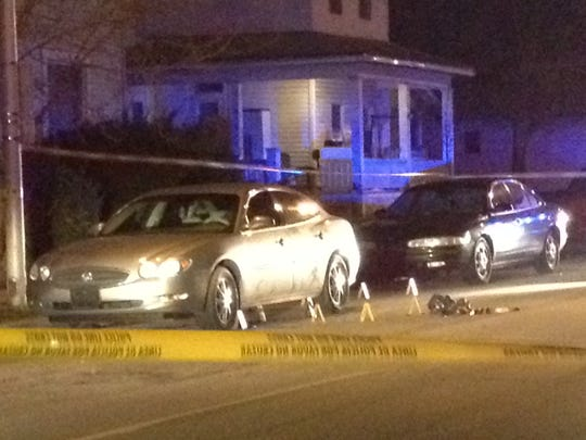 Richmond Police Department officers mark evidence in