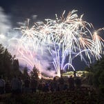 People from across the region came to The Oregon Garden for fireworks during Silverton Day on July 3, 2015.