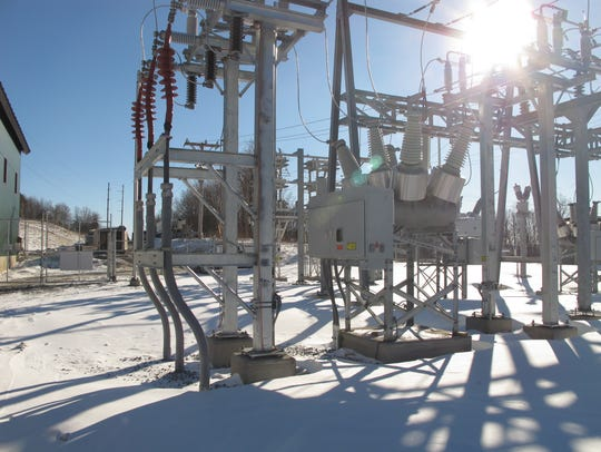 Green Mountain Power substation at Jay
