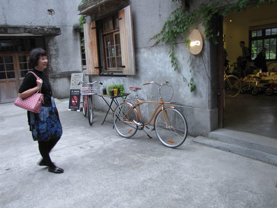 The storefront of GoChic Bicycles in Taipei, Taiwan,