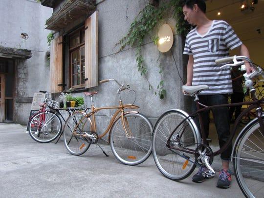Alex Chou, founder of GoChic Bicycles in Taipei, Taiwan,