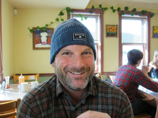 Todd Finard, former owner of University Mall in South Burlington, in a Waterbury diner in 2015.