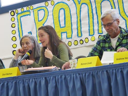 Huntington Selectboard Chairwoman Dori Barton takes