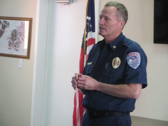 Washington City Fire Chief Brent Hafen praises his
