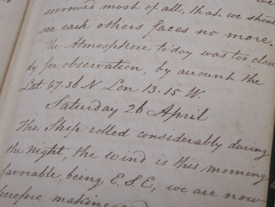 The diary of John Salmon, a passenger in 1828 on a