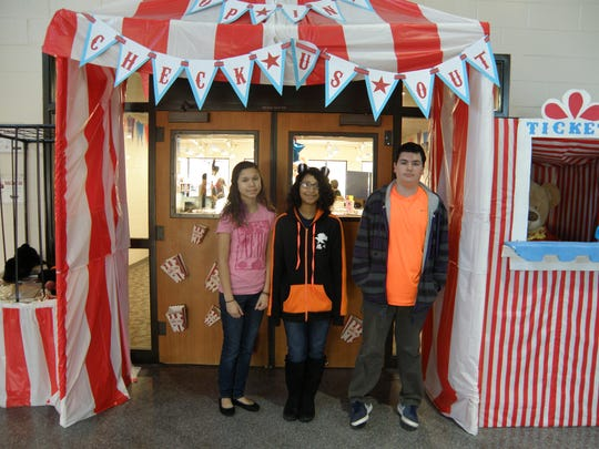 (From left) Seventh-graders Abiani Mendoza-Moir and Celina Williams and eighth-grader Antonio Catania were among the top readers for goal period No.2 for Delsea Regional Middle School's accelerated reading program.