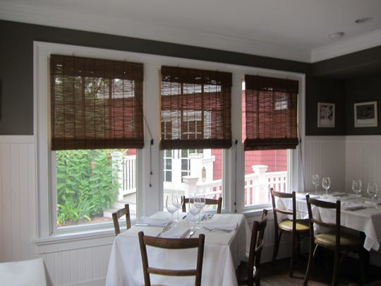The rear dining room is one of three seating choices